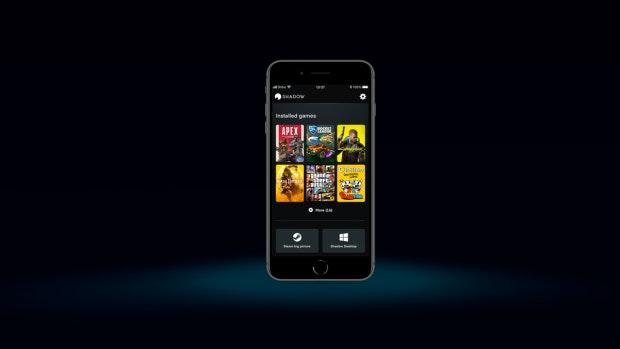 Mobil-App des Shadow-Could-PCs mit Konsolenmodus.