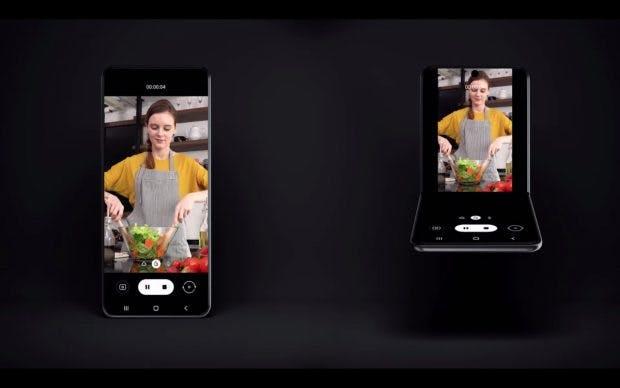 Samsungs nächstes Foldable ist zusammengeklappt wohl quadratisch und kompakter als das Galaxy Fold. (Bild: Samsung)
