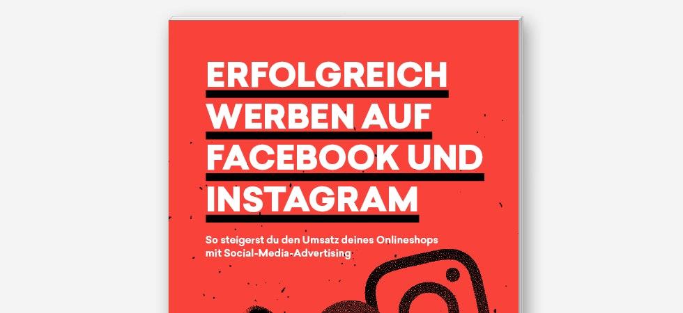"""Das Cover des Guides mit dem Namen """"Erfolgreich werben auf Facebook und Instagram"""""""
