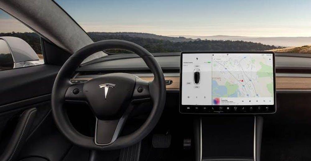 Die aktuelle Situation im Model 3. (Foto: Tesla)