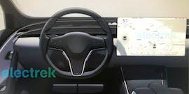 Teslas Designstudie kommender Modelle. (Bild: Electrek)