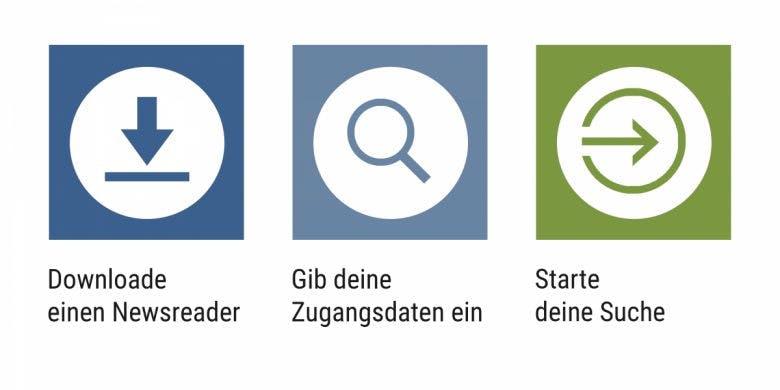Usenet ganz leicht in drei Schritten! Foto: UseNeXT)