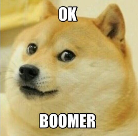 OK, Boomer Screenshot (Know your Meme)