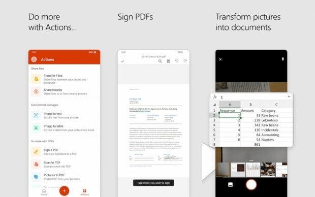 Neue Microsoft Office App vereint Word. Powerpoint und Excel. (Bild: Microsoft)