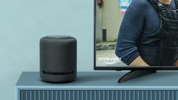 Amazon Echo Studio lässt sich per Fire TV Stick 4K oder Cube als Heimkinospeaker nutzen. (Bild: Amazon)
