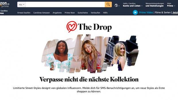 Amazon legt bei Fashion nach: The Drop und Stylesnap starten in Deutschland