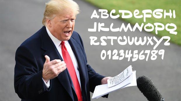Das neue Comic Sans: Trumps Handschrift gibt es als kostenlosen Font