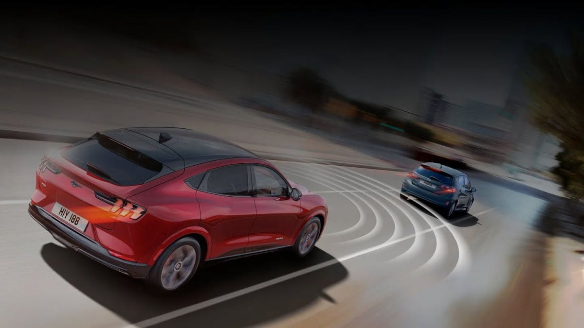 The Ford Mustang Mach-E offers various driver assistance systems.  (Photo: Ford)