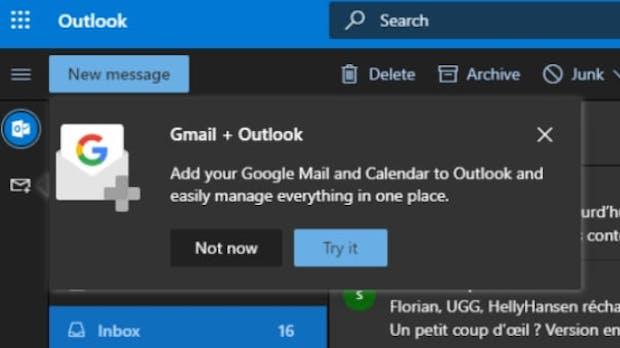 Gmail, Kalender und Drive: Outlook erhält Google-Integration im Web