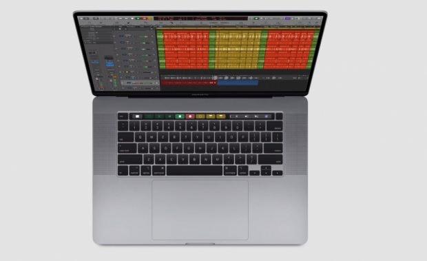 Macbook Pro 16 von oben. (Bild: Apple)
