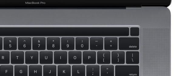 ... und separatem Fingerabdrucksensor neben der Touchbar. (Bild: Apple)