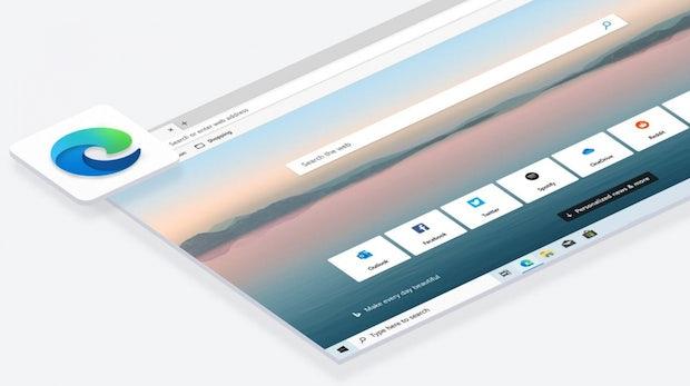 Microsofts neuer Edge-Browser vereint Web- und Intranetsuche
