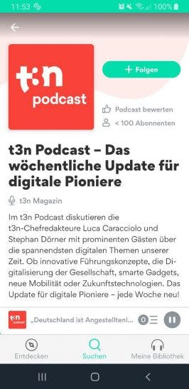 t3n Podcast bei Podimo