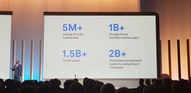 Thomas Kurian spricht bei der Keynote zu Google Next Cloud '19 über G Suite