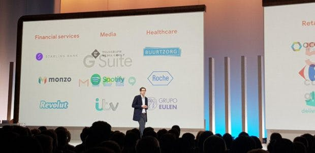 David Thacker bei der Google Cloud Next'19 in London
