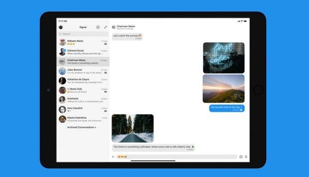 Signal: Messenger bekommt endlich eine richtige iPad-Version. (Grafik: Signal)