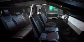 Der Innenraum des Tesla Cybertruck. (Bild: Tesla)