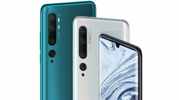 Das Xiaomi Mi Note 10 erscheint in drei Farben. Der Hersteller nennt sie Aurora Green, Glacier White und Midnight Black. (Bild: Xiaomi)
