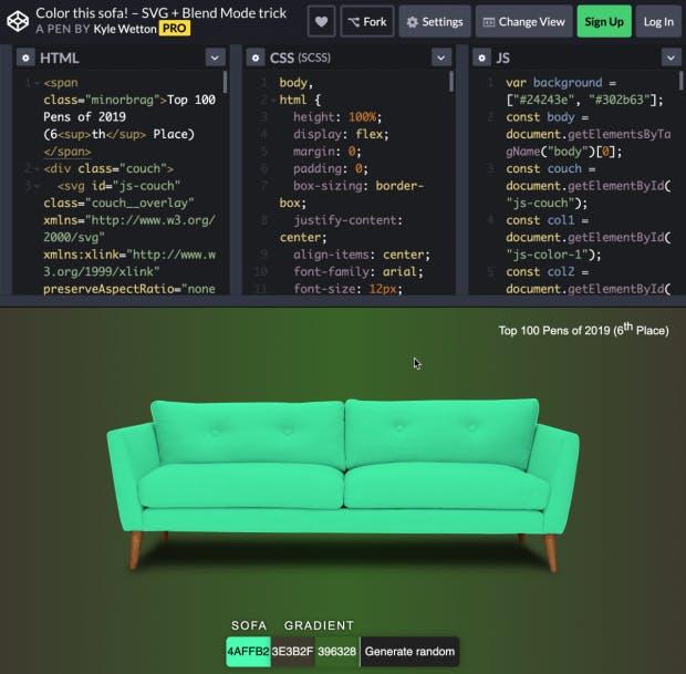 Color this Sofa. (Screenshot: t3n)