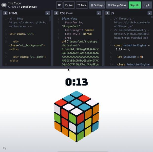The Cube. (Screenshot: t3n)