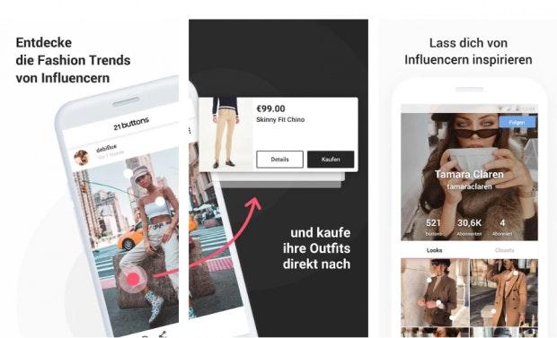 Klamotten wie ein Influencer. (Screenshot: t3n)