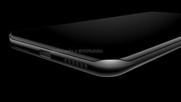 So soll das Huawei 40 Pro aussehen – mit zu allen Seiten um das Gehäuse gekrümmtem Display. (Renderbild: 91mobiles; Onleaks)