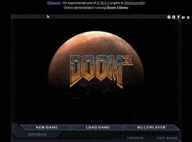 Doom 3 im Web. (Screenshot: Gabriel Cuvillier)