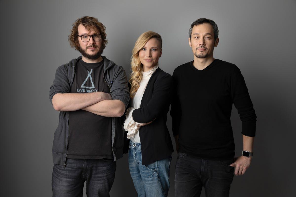 Die drei Gründer von TLGG: Christoph Bornschein, Fränzi Kühne, Boontham Temaismithi: 24-Stunden-Party zum Abschluss. (Foto: Tom Wagner)