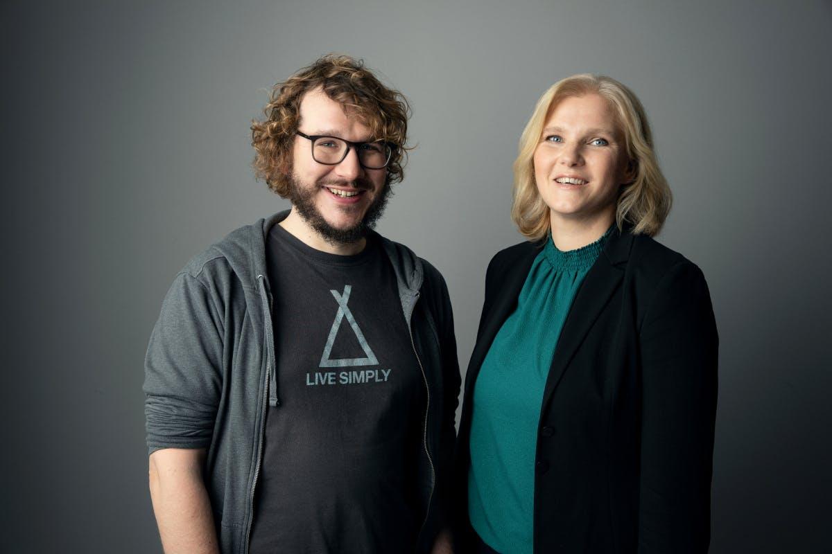 Das neue Team: Christoph Bornschein mit Stefanie Lüdecke. (Foto: Tom Wagner)