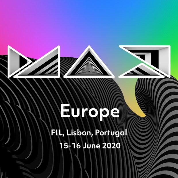 Das Visual für die europäische MAX steht schon, das Programm nicht. (Quelle: Adobe)