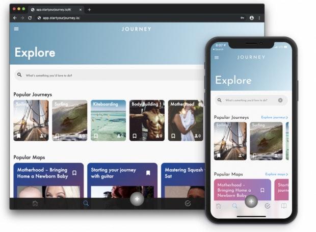 Journey erstellte App und Web-App mit Flutter. (Foto: Google)