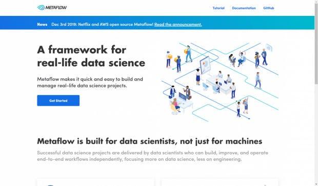 Metaflow: Projekt-Website. (Screenshot: t3n)