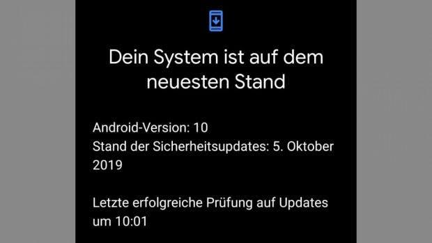 Auch das Pixel-4-Redaktions-Testgerät hat seit Oktober 2019 keine Sicherheitspatches mehr erhalten. (Screenshot: t3n)