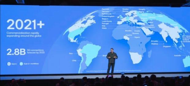 Qualcomm geht davon aus dass es mit 5G ab 2021 richtig losgeht. (Sreenshot: Qualcomm)