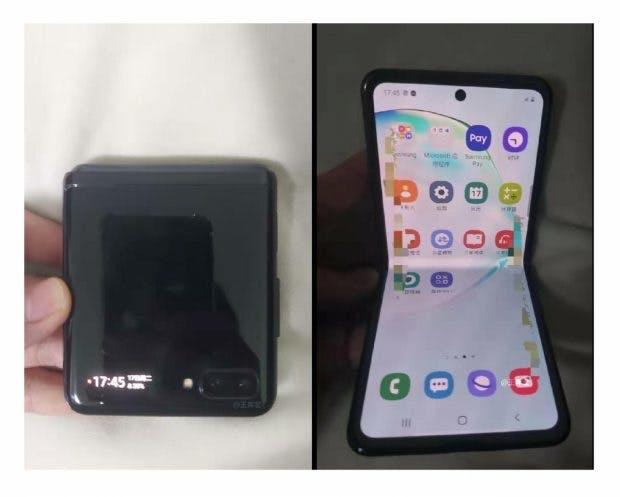 Samsung Galaxy Z Flip– Leak. (Bild: Weibo)