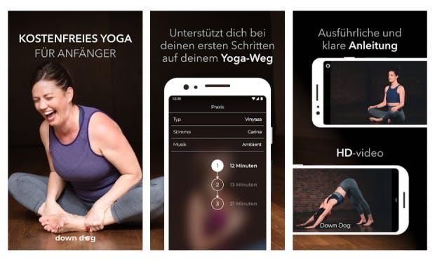Yoga für absolute Anfänger bietet Einsteigervideos. (Screenshot: t3n)