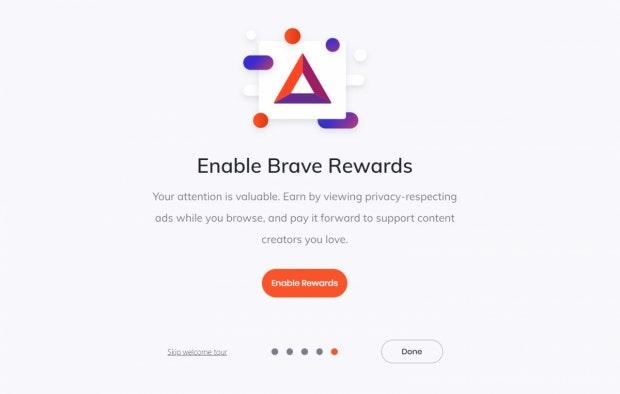 Schritt 1: Brave Rewards aktivieren. (Screenshot: t3n)