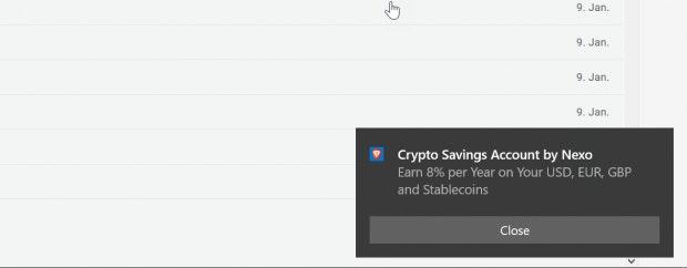 So sehen die Brave-Ads bislang aus. (Screenshot: t3n)