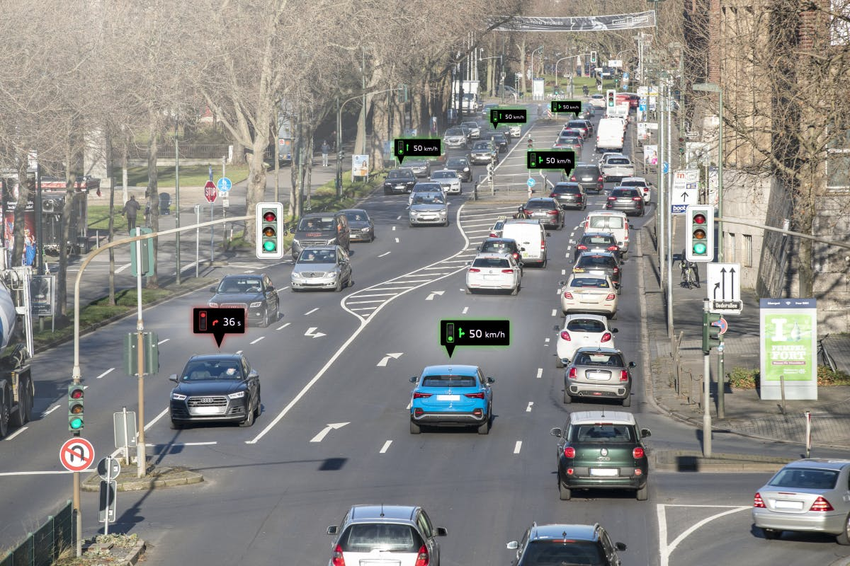 Audi-System für die grüne Welle startet in Düsseldorf