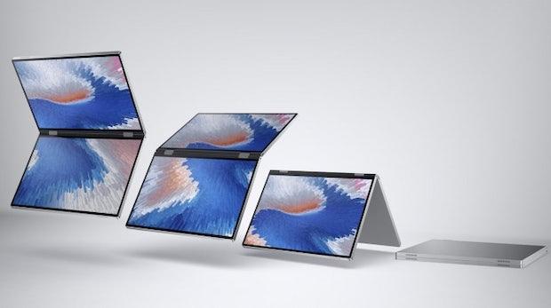 Dell zeigt Klapp- und Falt-Notebooks Duet und Ori