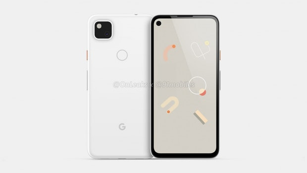 Google Pixel 4a Renderbild. (Bild: 91 Mobiles)