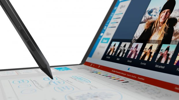 Thinkpad X1 Fold: Lenovos Notebook mit Faltdisplay ist fertig – kostet ab 2.500 Dollar