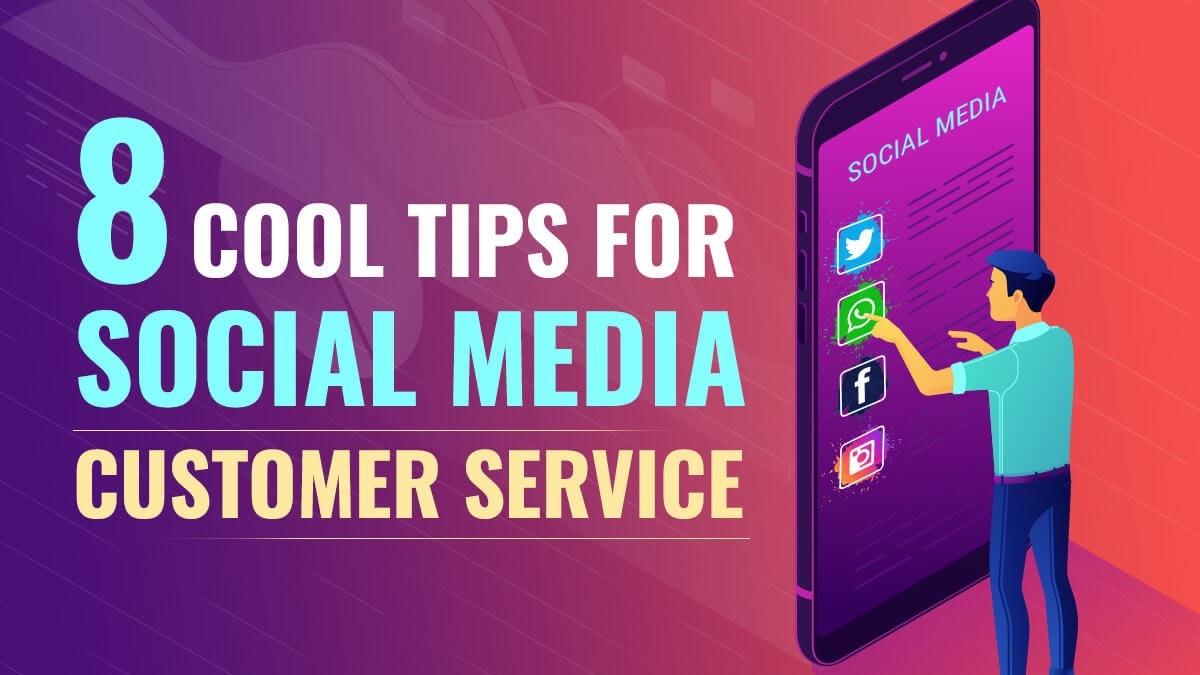 Infografik mit Tipps für deinen Kundenservice in sozialen Netzwerken.