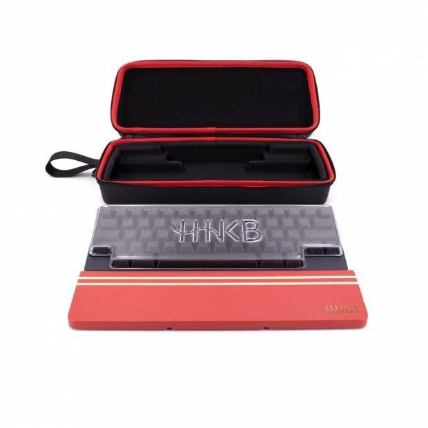 HHKB-Zubehörpaket bestehend aus Tastaturabdeckung, Handballenauflage und Tragetasche. (Foto: Fujitsu)