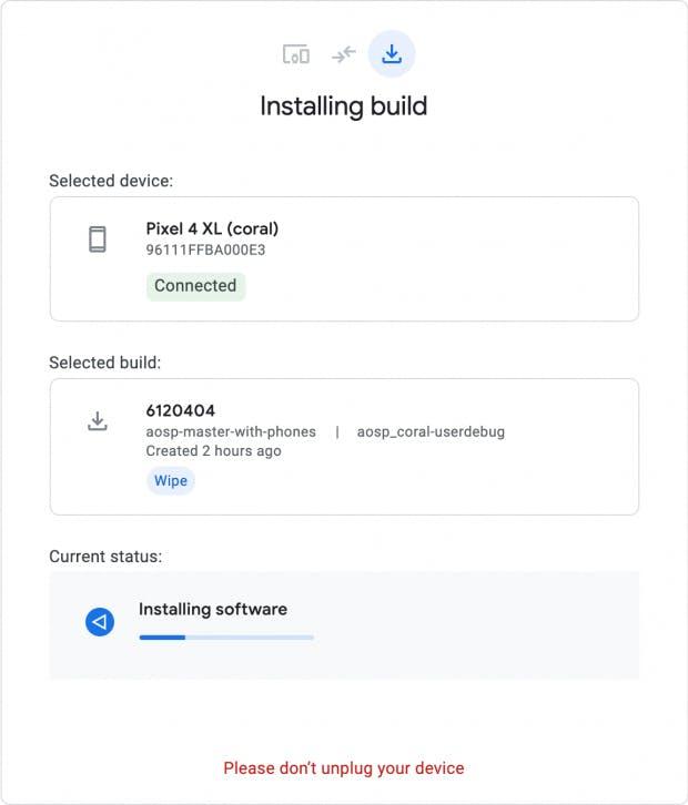 Googles Flash-Tool bei der Arbeit. (Screenshot: Google)