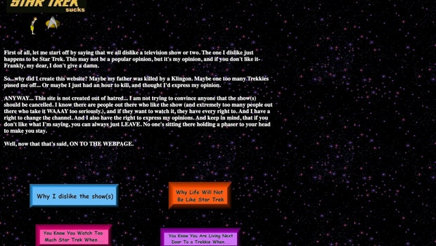 (Screenshot: The Geocities Gallery / t3n)