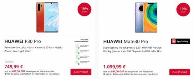 Huawei hat zur Eröffnung des neuen Online-Stores einige Angebote am Start. (Screenshot: t3n; Huawei)