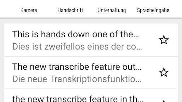 In der Google-Übersetzer-App müsst ihr nur Spracheingabe oder Unterhaltung wählen – und los geht's. (Screenshot: t3n)
