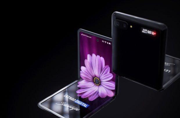 Konzept des Samsung Galaxy Z Flip. (Bild: Digital Trends)