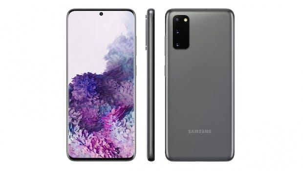 Das Samsung Galaxy S20 in Grau. (Bild: Evleaks)